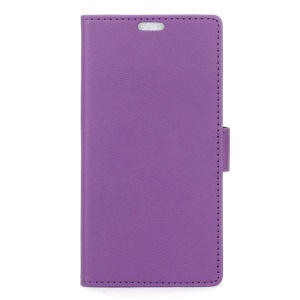 Magnetic Leather Stand Cover for Motorola Moto E3 - Purple