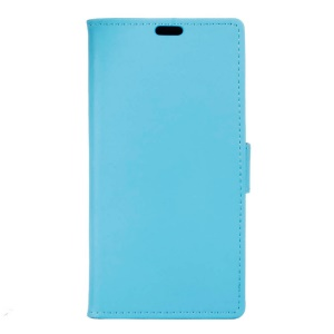 Magnetic Leather Stand Cover for Motorola Moto E3 - Blue