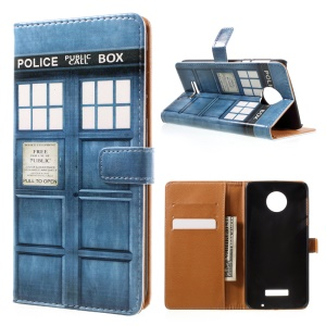 Patterned Leather Case Cover for Motorola Moto Z Force - Police Public Call Box
