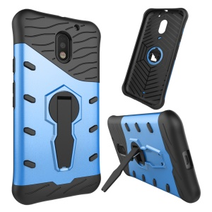 Armor PC + TPU Hybrid Cover Case with Kickstand for Motorola Moto E3 - Blue