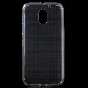 Glossy Slim TPU Case Cover for Moto E3 - Transparent