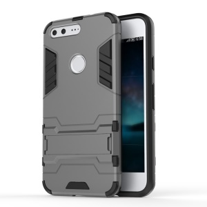 Easy View Kickstand PC + TPU Hybrid Cover for Google Pixel - Grey