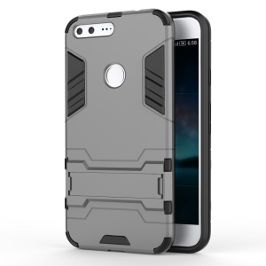 Kickstand PC + TPU Hybrid Protector Case for Google Pixel XL - Grey