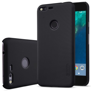 NILLKIN Super Frosted Shield Hard Case for Google Pixel + Screen Protector - Black