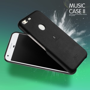 LENUO Music Case II for Google Pixel Leather Coated Hard Phone Cover - Black