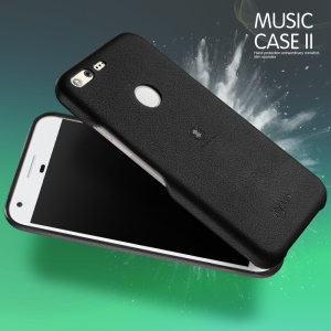 LENUO Music Case II for Google Pixel XL Leather Coated Hard Cover Shell - Black
