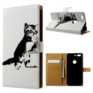 Pattern Printing Leather Wallet Case for Google Pixel - Lovely Cat