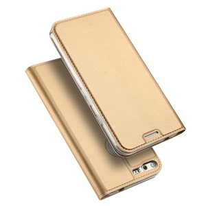 DUX DUCIS Skin Pro Series Leather Flip Folio Cover for Google Pixel - Dark Gold