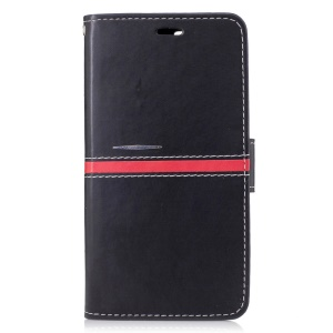 Graceful Series Stitching Leather Wallet Case with Hand Strap for Google Pixel XL - Black