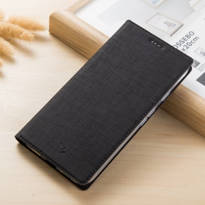 VILI DMX Style Auto-absorbed Cross Texture Leather Stand Case with Card Slot for Google Pixel 5.0 - Black