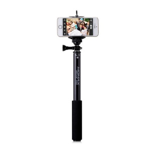 MOMAX SelfiFit Selfie Monopod Stick + Bluetooth Remote Control Shutter for iPhone Samsung Sony LG Etc - Black