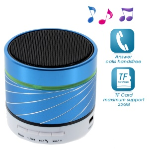Blue Gaoke S07 Metal Bluetooth Speaker with Mic Support USB Flash Driver / TF Card / AUX