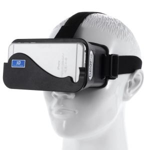 Cardboard Head Mount Plastic Virtual Reality 3D Video Glasses for Android iOS 4.3-5.5inch Smart Phones