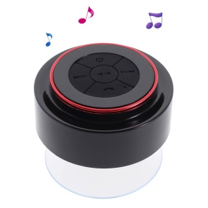 IP67 Waterproof Portable Handsfree Bluetooth Speaker with Suction Cup - Red