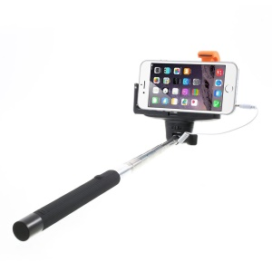 Black KJSTAR 3.5mm Audio Cable Handheld Extendable Monopod for iPhone Samsung HTC Sony etc (Z07-7)