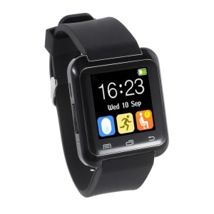 U80 Health Sport Smart Bluetooth Watch for Android Phone - Black