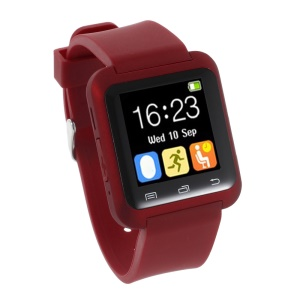 U80 Health Sport Smart Bluetooth Watch for Android Phone - Red