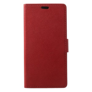 Leather Wallet Stand Mobile Casing Cover for Asus Zenfone 4 Max /4 Max Pro /4 Max Plus ZC554KL - Red