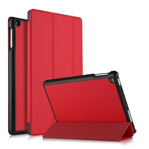 For ASUS ZenPad 10 (Z301ML) Tri-fold Stand PU Leather Smart Cover - Red
