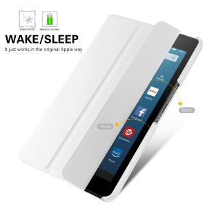 Tri-fold Stand Leather Smart Cover for Asus ZenPad 3 8.0 Z581KL - White