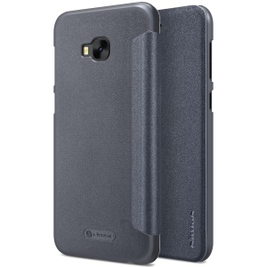 NILLKIN Sparkle Series Flip Leather Case for Asus Zenfone 4 Selfie Pro ZD552KL - Black