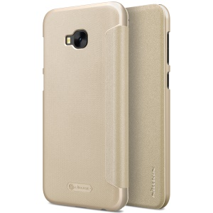 NILLKIN Sparkle Series Flip Leather Cover for Asus Zenfone 4 Selfie Pro ZD552KL - Gold