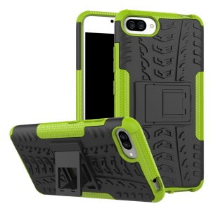 Cool Tyre Kickstand PC TPU Hybrid Phone Case for Asus Zenfone 4 Max /4 Max Pro /4 Max Plus ZC554KL - Green