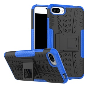 Kickstand PC + TPU Hybrid Cool Tyre Phone Cover for Asus Zenfone 4 Max /4 Max Pro /4 Max Plus ZC554KL - Blue