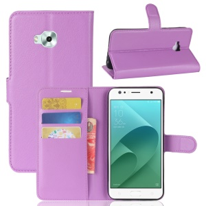 Litchi Skin PU Leather Stand Case for Asus ZenFone 4 Selfie ZD553KL/ 4 Selfie ZB553KL/ 4 Selfie Lite ZB553KL - Purple