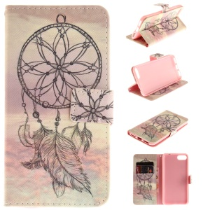 Pattern Printing Wallet Leather Stand Case for Asus Zenfone 4 MAX /4 Max Pro /4 Max Plus ZC554KL - Dream Catcher