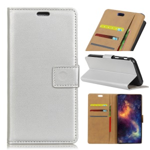 Wallet Leather Phone Case for Asus Zenfone 4 Max ZC520KL - Silver