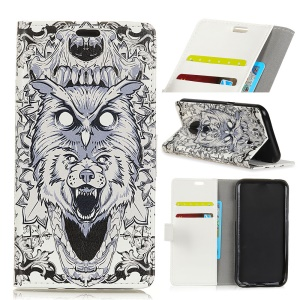 Pattern Printing Leather Stand Case with Card Slots for Asus Zenfone 4 Selfie ZD553KL - Animal Pattern