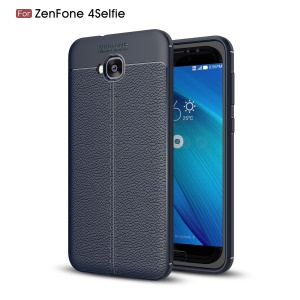 Litchi Grain TPU Phone Cover for Asus Zenfone 4 Selfie ZD553KL/ 4 Selfie ZB553KL/ 4 Selfie Lite ZB553KL - Blue