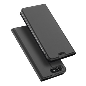 DUX DUCIS Skin Pro Series Stand Card Holder Leather Casing for Asus ZenFone 4 Pro (ZS551KL) - Grey