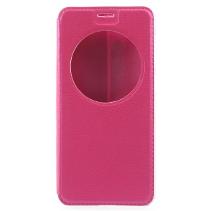 Folding Stand View Window Leather Phone Shell for Asus Zenfone 4 Max ZC520KL - Rose