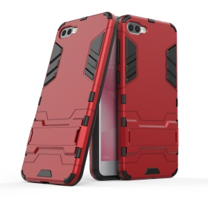 Cool Guard PC+TPU Combo Kickstand Phone Casing for Asus Zenfone 4 Max ZC520KL - Red