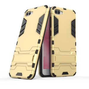 Cool Guard PC+TPU Hybrid Kickstand Protection Back Phone Case for Asus Zenfone 4 Max ZC520KL - Gold