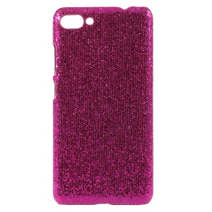 PU Leather Coated PC Hard Case for Asus ZenFone 4 Max Plus (ZC554KL) - Glitter Sequins / Rose