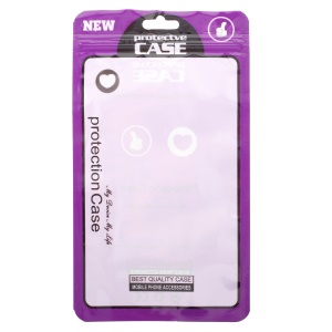 100Pcs/Lot Retail Packaging Bag Plastic Bag for iPhone X/8/8 Plus Cases, Inner Size: 17 x 10.5cm - Purple