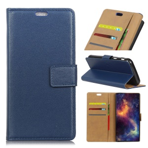 PU Leather Wallet Magnetic Stand Mobile Casing for Asus ZenFone Max Plus (M1) ZB570TL - Blue