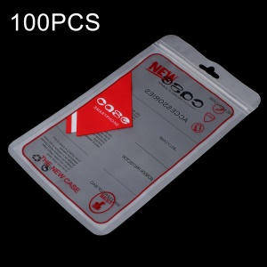 100Pcs/Lot Zip Lock Plastic Retail Packing Bag for iPhone X/8 Plus Cases, Inner Size: 17.5 x 10.3cm - Red