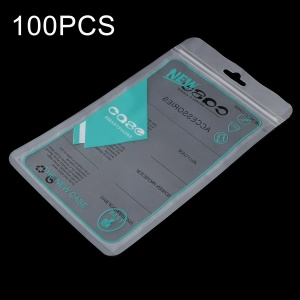 100Pcs/Lot Zip Lock Plastic Retail Package Bag for iPhone X/8 Plus Cases, Inner Size: 17.5 x 10.3cm - Cyan
