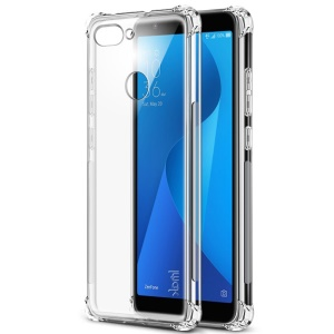 IMAK Skin Feel Anti-drop TPU Cover + Explosion-proof Screen Film for Asus ZenFone Max Plus (M1) ZB570TL - Transparent