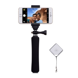 MOMAX Mini Extendable Selfie Monopod with Bluetooth Remote Shutter for Camera and Phones - Black