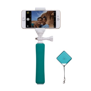 MOMAX Mini Extendable Selfie Monopod with Bluetooth Remote Shutter for Camera and Phones - Green