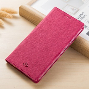VILI DMX Cross Texture Card Holder Leather Stand Shell for Asus ZenFone Max Plus (M1) ZB570TL - Rose