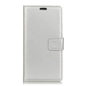 Wallet Leather Stand Shell for Asus Zenfone Max (M1) ZB555KL - Silver