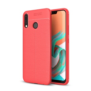 Litchi Texture TPU Shell Case for Asus Zenfone 5Z ZS620KL - Red