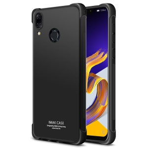 IMAK for Asus Zenfone 5Z ZS620KL/5 ZE620KL Skin Feel Anti-drop TPU Case + Explosion-proof Screen Film - Metal Black