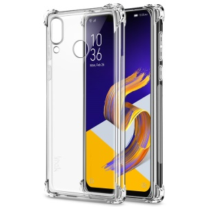IMAK for Asus Zenfone 5Z ZS620KL/5 ZE620KL Skin Feel Anti-drop TPU Shell + Explosion-proof Screen Film - Transparent